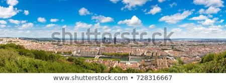 リヨン · フランス · パノラマ · 市 · 青空 · 空 - ストックフォト © meinzahn