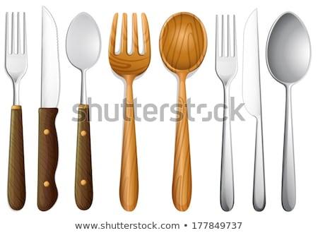 vork · witte · voorraad · foto · textuur - stockfoto © digifoodstock
