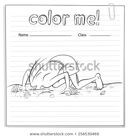 Worksheet with a head of a man at the ground Stock photo © bluering