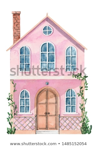 A big pink house Stock photo © bluering