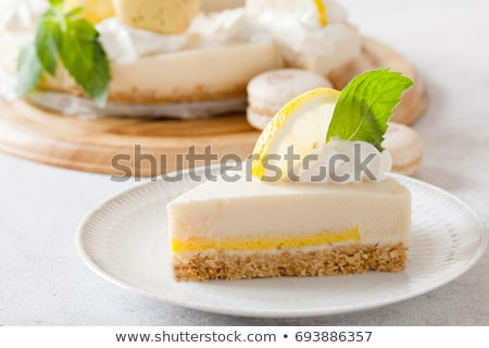 Mascarpone mousse with macaroons Stock photo © Peteer