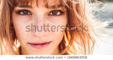 belo · mulher · feliz · jovem · isolado - foto stock © sapegina