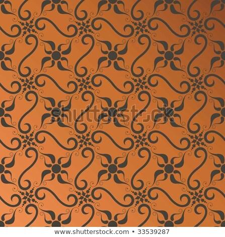 Barroco sem costura papel de parede estilo elegante Foto stock © Genestro
