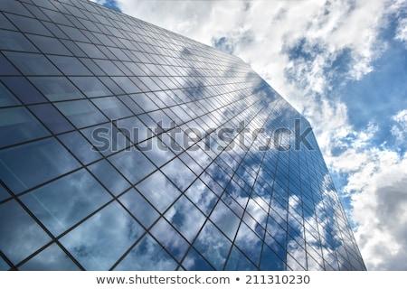 üveg épület Brüsszel modern magas üveg épületek Stock fotó © artjazz