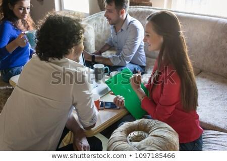 Inicio reunión de negocios edad sofá negocios hombre Foto stock © Kzenon