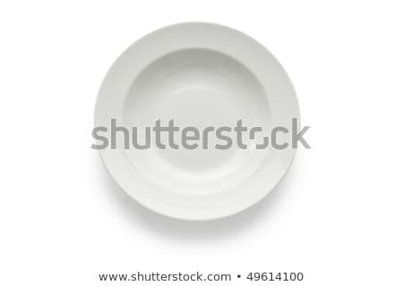Witte soep plaat coupe schone Stockfoto © Digifoodstock