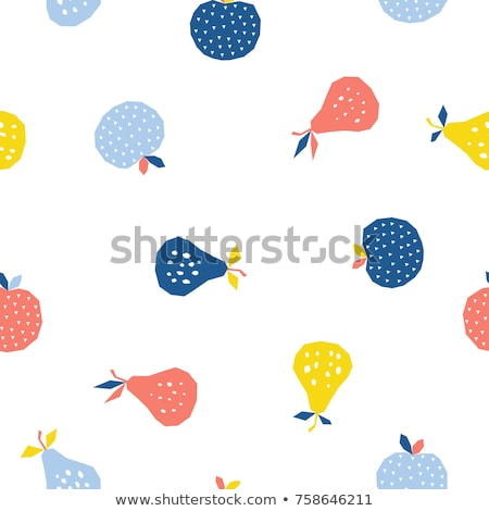 Vintage Pear Seamless Pattern stock photo © ConceptCafe