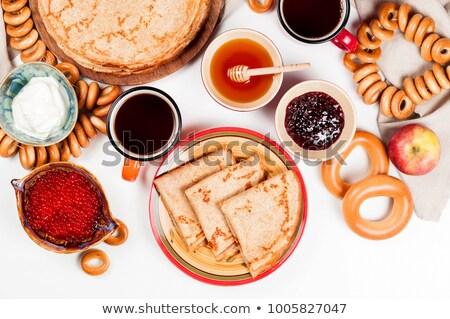Kaviár ropogós lazac vaj krém gluténmentes Stock fotó © user_11224430