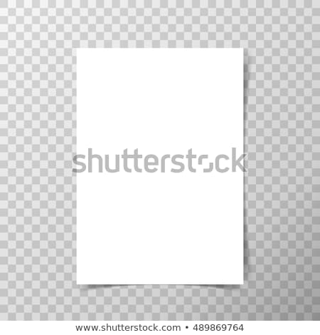 Vel papier geïsoleerd grijs vector sjabloon Stockfoto © tuulijumala
