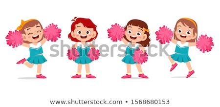 doodle character for cute cheerleader stock photo © bluering