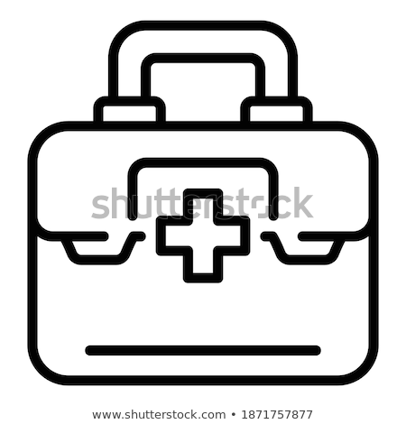 Suitcase with ophthalmological equipment Stock photo © Hochwander