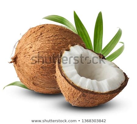 fresh coconut with cracked husk Stock photo © Digifoodstock