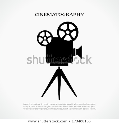 old movie camera on a tripod stock photo © kidza