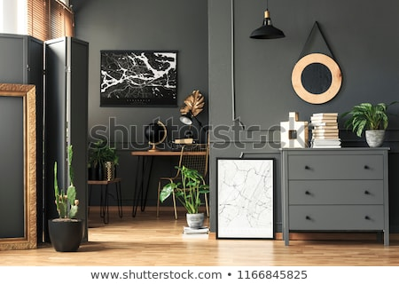 Wooden Chest of Drawers Black Stock photo © Voysla