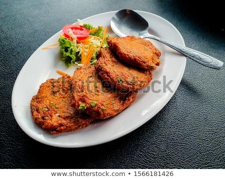 Foto stock: Ingredientes · tailandés · peces · tortas · alimentos · crudo