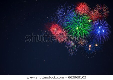 blue green red fireworks located right side stock photo © tasipas