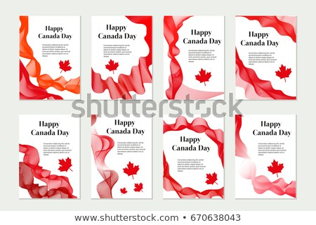 Canadá dia conjunto templates projeto folheto Foto stock © lucia_fox