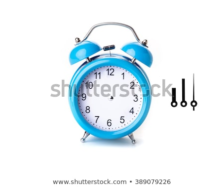 Retro clock face with two hands and no numbers. Stock photo © kyolshin