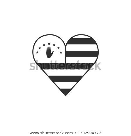 abkhazia flat heart flag stock photo © amplion