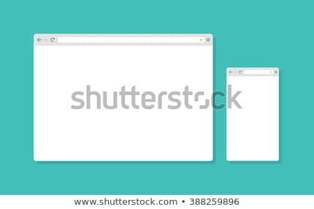 Abstract Flat Design Web Browser Window Template Vector Illustration