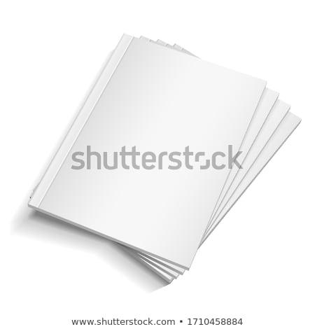 empty white book or magazine stock photo © timurock