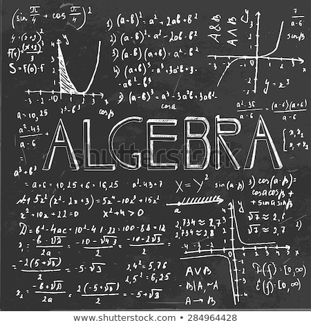 Learn Algebra - Chalkboard with Hand Drawn Text. Stock photo © tashatuvango