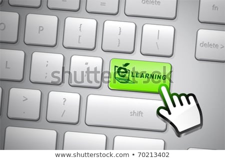 közelkép · számítógép · billentyűzet · kulcs · újrahasznosít · üzlet · internet - stock fotó © tashatuvango