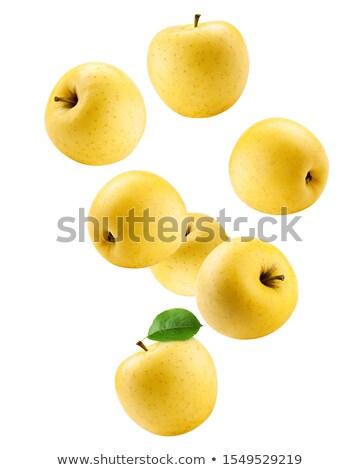 ripe yellow apple isolated on white stock photo © ivo_13