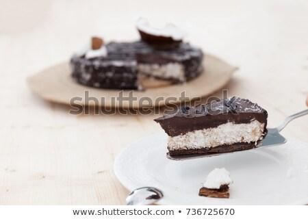 Ruw veganistisch cake mooie ingericht exotisch Stockfoto © blanaru