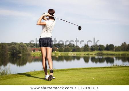 гольфист · мяч · для · гольфа · гольф · трава · спорт - Сток-фото © is2