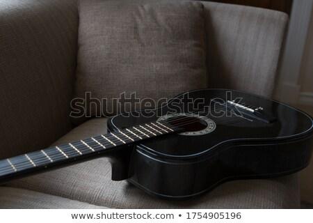 Guitar kept on sofa in living room Stock photo © wavebreak_media