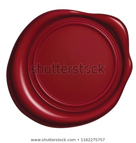 赤 · ワックス · シール · コピースペース · 独自の - ストックフォト © konturvid