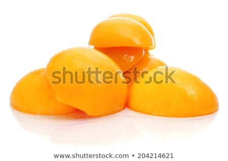 Geschält Pfirsiche Schüssel weiß Gruppe Salat Stock foto © Digifoodstock