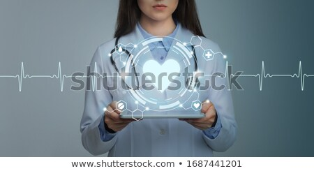 Healthcare worker using modern innovative technology in medicine Stock photo © stevanovicigor
