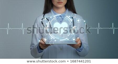 女性 · 医師 · 心臓専門医 · 作業 · 病院 · 女性 - ストックフォト © stevanovicigor