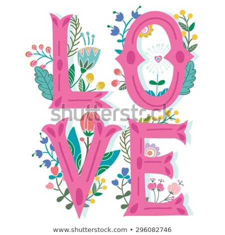 Palavra amor decorativo cartas vermelho dia dos namorados Foto stock © Kotenko
