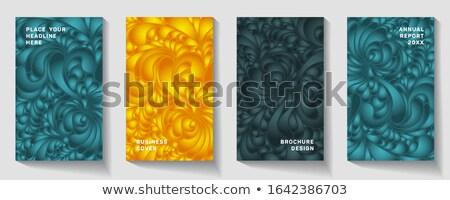 活気のある 装飾的な 曼陀羅 カード 招待 テンプレート ストックフォト © SArts