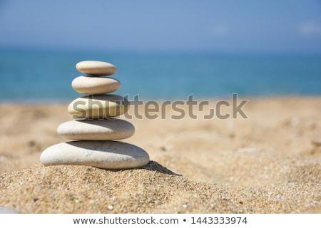 石 バランス 安定 岩 山 ストックフォト © blasbike