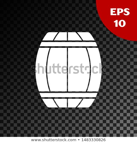 vector illustration with isolated wood barrel on transparent background stock photo © articular