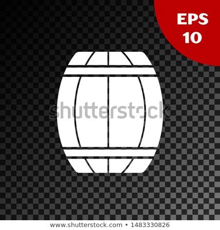изолированный древесины баррель прозрачный вино пива Сток-фото © articular