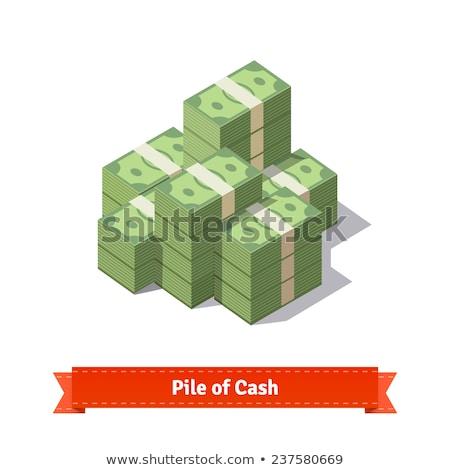 isometric money stack isolated icon stock photo © studioworkstock