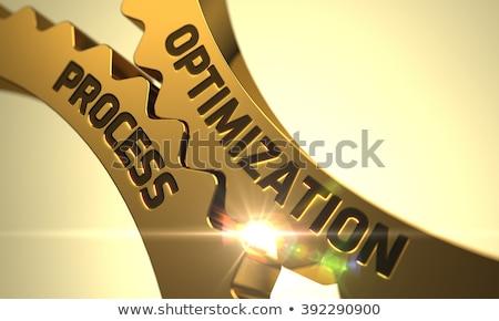 Process Optimization on Golden Cogwheels. 3D Illustration. Stock photo © tashatuvango
