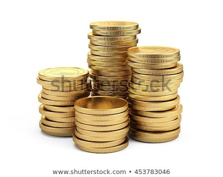 euro symbol golden 3d rendering isolated stock photo © Wetzkaz