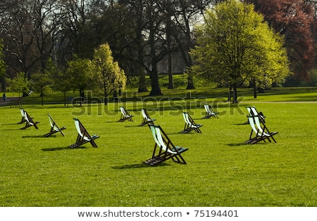 Deck chairs in St James's Park, London Stock photo © IS2
