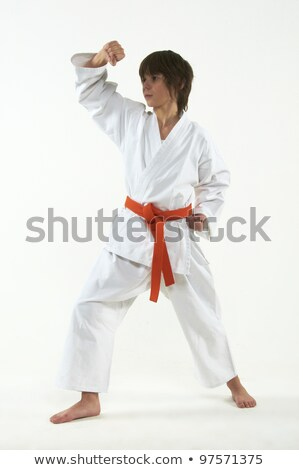 Boy practicing karate Stock photo © IS2