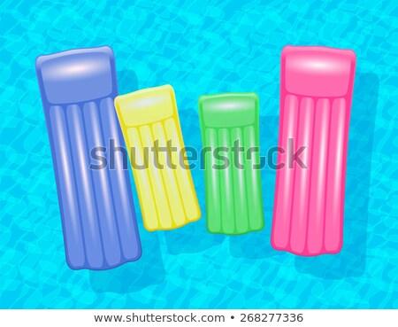 Vier vrienden vlot strand paar zand Stockfoto © IS2