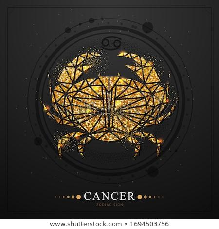 Zodiac semne cancer crab icoană Imagine de stoc © Krisdog
