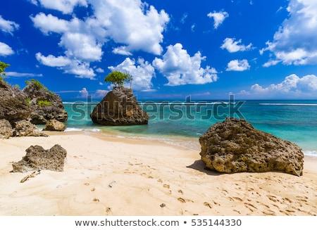 Bali tengerpart társalgó üres sziget égbolt Stock fotó © joyr