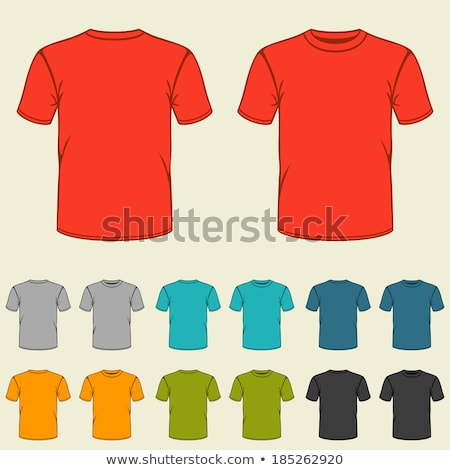 Boy Wearing Red T-shirt and Shorts Vector Stock photo © robuart