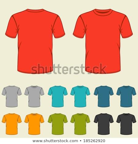Jongen Rood tshirt shorts vector Stockfoto © robuart